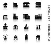 buildings icons | Shutterstock .eps vector #168745259