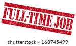 full time job grunge red stamp | Shutterstock . vector #168745499