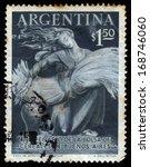 argentina   circa 1954  a stamp ... | Shutterstock . vector #168746060