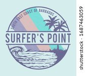 surf typography  tee shirt... | Shutterstock .eps vector #1687463059