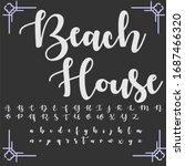 handwritten fonts and alphabets ... | Shutterstock .eps vector #1687466320