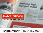 Daily Newspaper Showing 'fake...