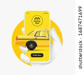 online taxi order concept.... | Shutterstock .eps vector #1687471699