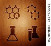 set test tube and flask... | Shutterstock .eps vector #1687473016