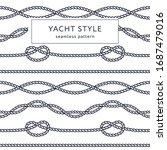 nautical rope seamless pattern. ...   Shutterstock .eps vector #1687479016