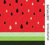 pattern fruit watermelon juice...   Shutterstock .eps vector #168749198