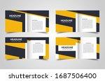 templates for square brochure.... | Shutterstock .eps vector #1687506400