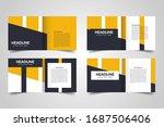 templates for square brochure.... | Shutterstock .eps vector #1687506406