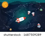 vector illustration of space.... | Shutterstock .eps vector #1687509289
