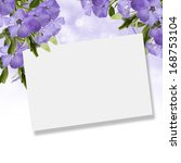 postcard with fresh flowers.... | Shutterstock . vector #168753104