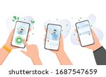 new chat messages notification... | Shutterstock .eps vector #1687547659