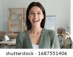 Headshot Portrait Of Smiling...