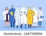 a group of doctors in... | Shutterstock .eps vector #1687558006