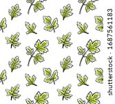 seamless pattern with parsley... | Shutterstock .eps vector #1687561183