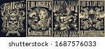 vintage tattoo monochrome... | Shutterstock .eps vector #1687576033