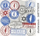 israel set of stamps. travel... | Shutterstock .eps vector #1687578559