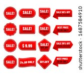 sale banner and label price... | Shutterstock .eps vector #1687584910