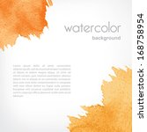 background with watercolor... | Shutterstock .eps vector #168758954