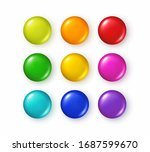button set isolated on white... | Shutterstock .eps vector #1687599670