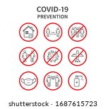 coronavirus covid 19 prevention ... | Shutterstock .eps vector #1687615723
