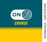 online course inverted logo... | Shutterstock .eps vector #1687623160