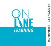 online learning logo lettering... | Shutterstock .eps vector #1687623169