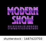 vector trendy poster modern... | Shutterstock .eps vector #1687623703
