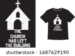 the church has left the... | Shutterstock .eps vector #1687629190