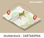 isometric janta curfew lockdown ...   Shutterstock .eps vector #1687660966