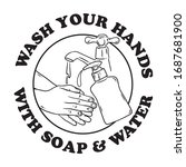 wash your hands with soap and... | Shutterstock .eps vector #1687681900