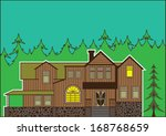 house in the forest | Shutterstock .eps vector #168768659