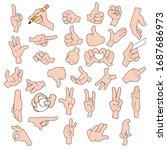 vector set of cartoon hands   Shutterstock .eps vector #1687686973