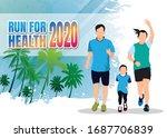 running men and women sports... | Shutterstock .eps vector #1687706839