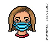 Pixel Art Portrait Of A Woman...