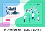 online study web page. internet ...   Shutterstock . vector #1687716466
