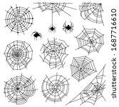 Cobweb. Halloween Monochrome...