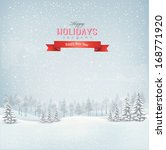 holiday winter landscape... | Shutterstock .eps vector #168771920