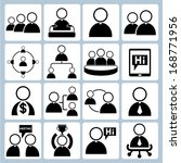 human resource management and... | Shutterstock .eps vector #168771956