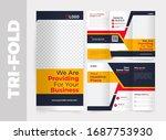 business tri fold brochure... | Shutterstock .eps vector #1687753930