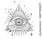the eye of providence or...   Shutterstock .eps vector #1687762639
