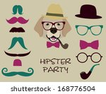 hipster party | Shutterstock .eps vector #168776504