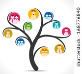 Colorful People Icon Tree...