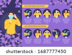 how to wear and remove medical... | Shutterstock .eps vector #1687777450