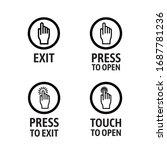 door operation buttons ... | Shutterstock .eps vector #1687781236