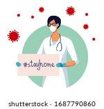 covid 19 spread of the virus.... | Shutterstock .eps vector #1687790860