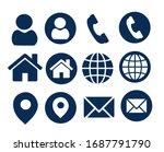 name  phone  website  contact ... | Shutterstock .eps vector #1687791790