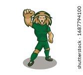Lion Cartoon Mascot Design Wit...
