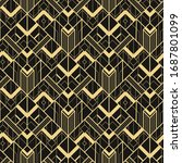 art deco seamless pattern...   Shutterstock .eps vector #1687801099