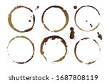 vector coffee cup stains ... | Shutterstock .eps vector #1687808119