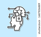 robot  ai  brain sticker icon....
